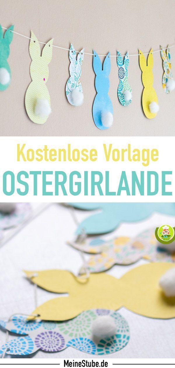 Photo of Ostergirlande basteln: DIY-Bastelidee für Ostern mit Osterhasen Vorlagen – MeineStube