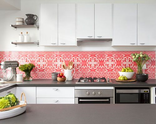 Love Love Love The Wallpaper Under Glass Backsplash Kitchen
