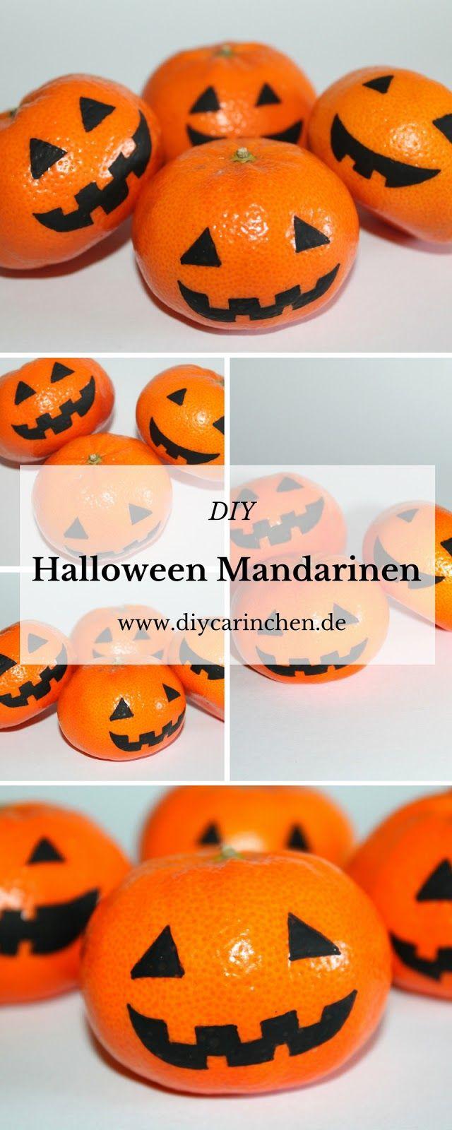 DIY gruselige Halloween Mandarinen selber machen - für eine perfekte ...