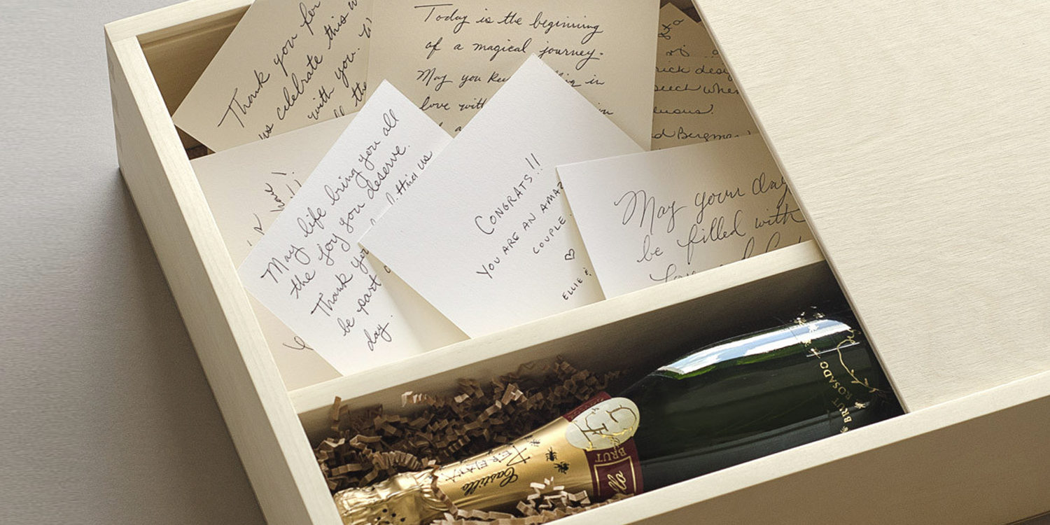 The Wedding Wish Wine Box  How to Include Your Wedding Guests In