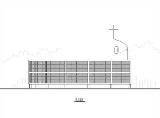 Iglesia católica en Qichun,Elevación