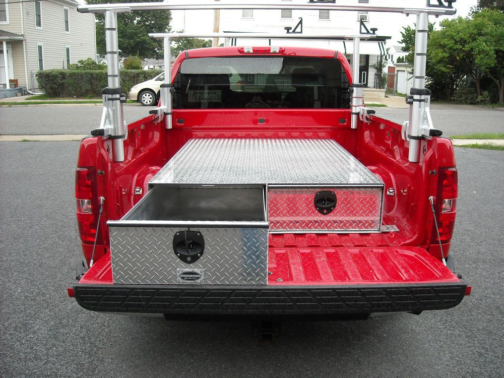 "New Aluminum 48"" Truck Bed Drawer Storage Tool Box"