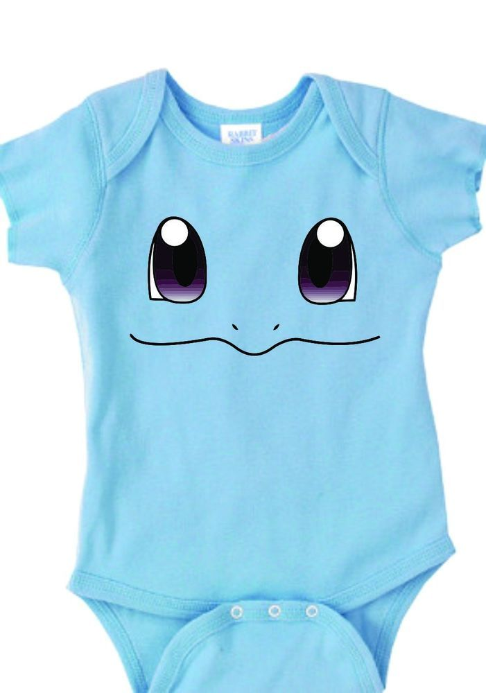 2845c8b48 Inspired by Squirtle face Pokemon Onesie new born to 24 months very cute