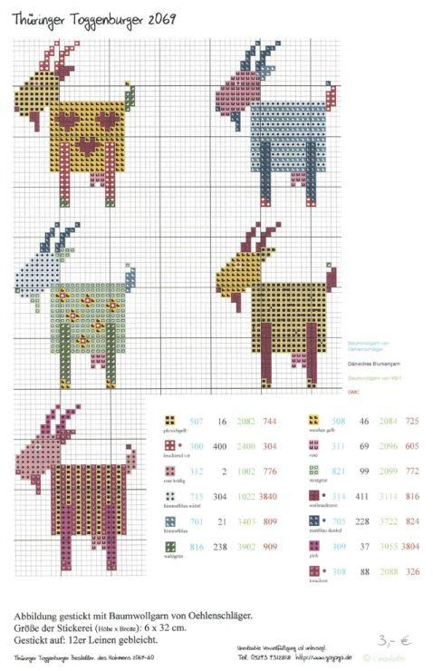 Goat Cross Stitch Pattern