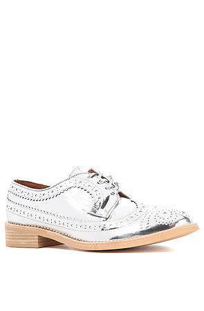 Jeffrey Campbell Shoe Townsend Oxford in Silver Metallic : Miss KL $130