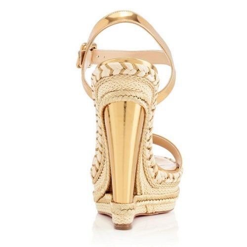 b595202b29e New Duplice 140mm gold wedge heels with red bottoms