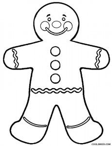 Gingerbread Man Coloring Pages Coloring Page Pinterest
