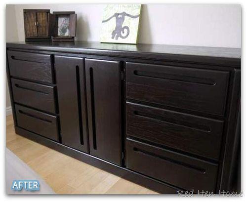 Zack S Room Oak To Espresso In 2020 Staining Furniture Oak Furniture Furniture