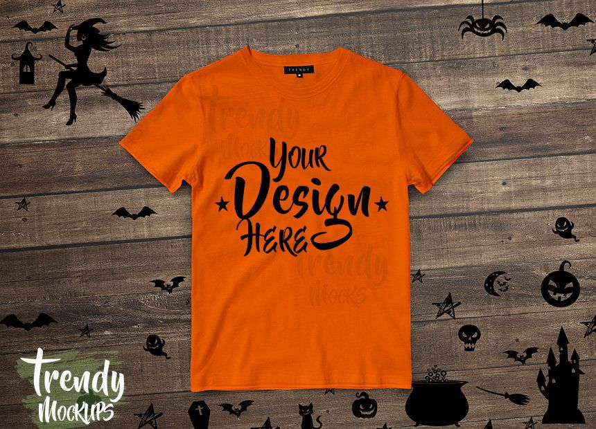 Download Halloween Tshirt Mockup Orange Unisex Tshirt Mockup Wood Background Tshirt Mockup Halloween Mockup Fall Mockup Tshirt Mockup Shirt Mockup Ipad Mockup Psd