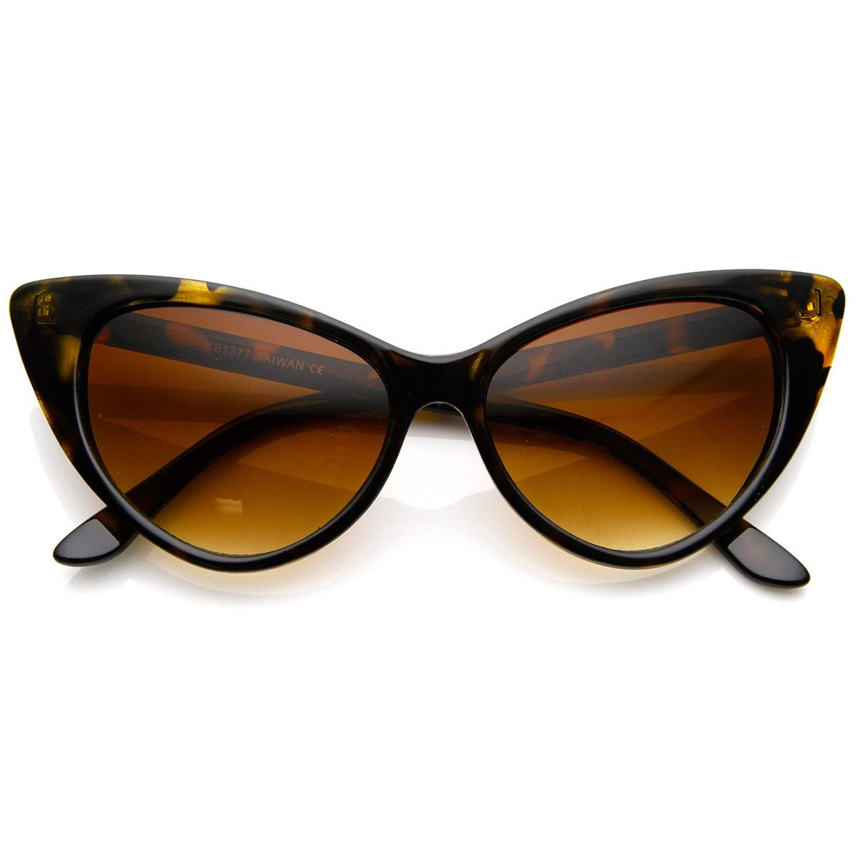 8cca3a2856 Super Cateyes Vintage Inspired Fashion Mod Chic High Pointed Cat-Eye  Sunglasses