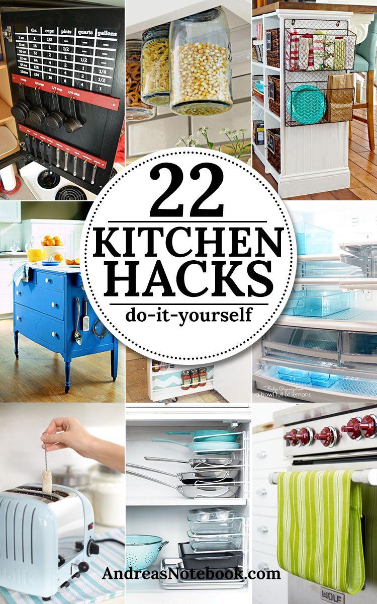 Elegant Küchen Hacks Foto Von 22 Diy Kitchen & Tips