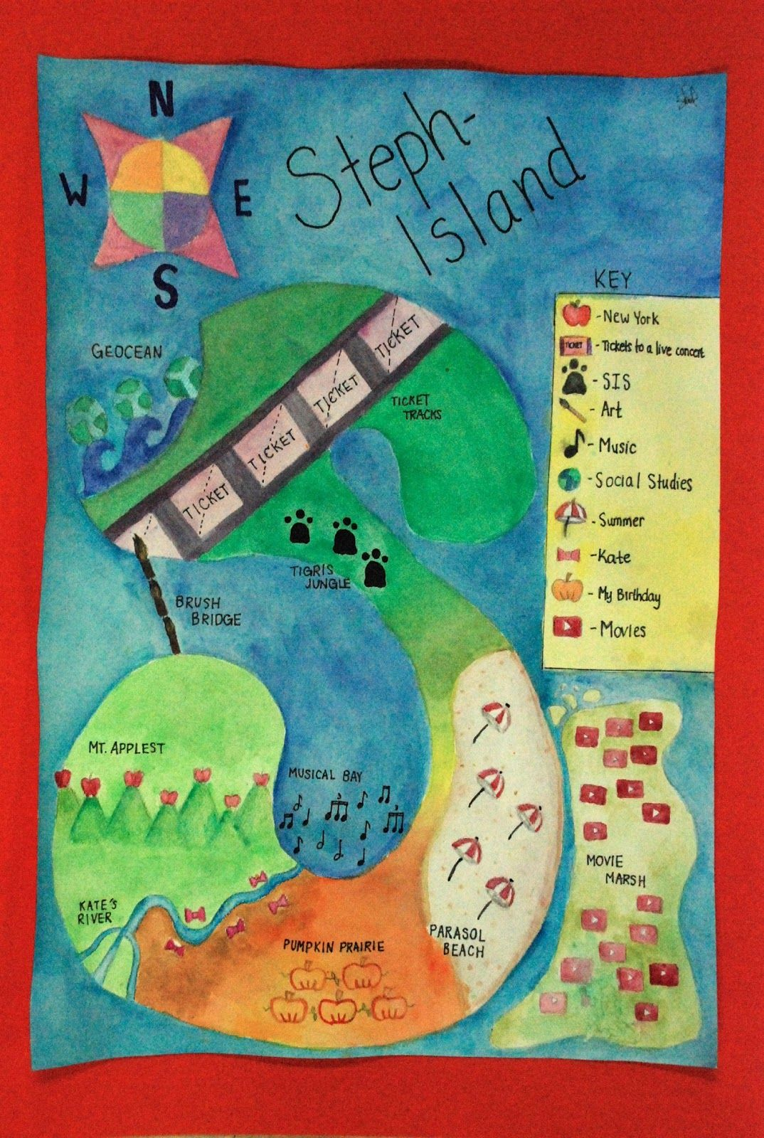 Autobiographical Maps Get To Know Your Students Symbolic
