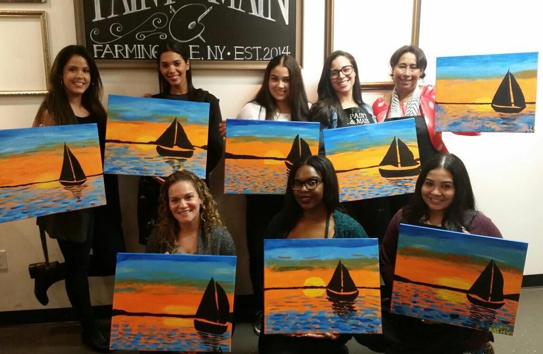 #paintandmain #painting #sailboat #picasso #lovethem #suchahilariousandfunday #ilookbusted #butmypaintingdoesnt  by _caro__lina_
