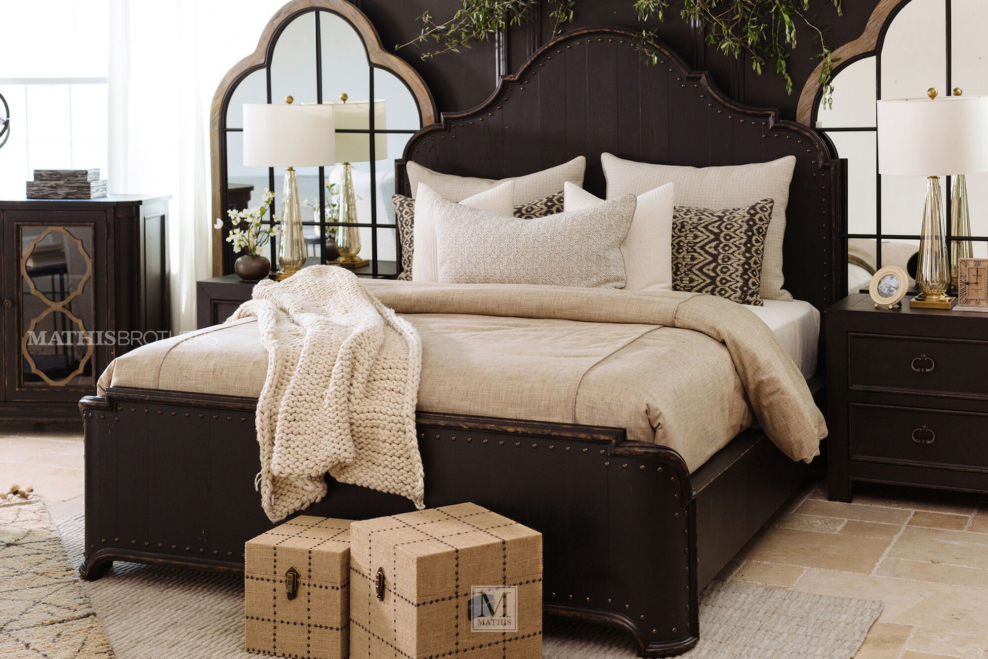 72 Traditional Panel Bed In Kettle Black Mathis Brothers