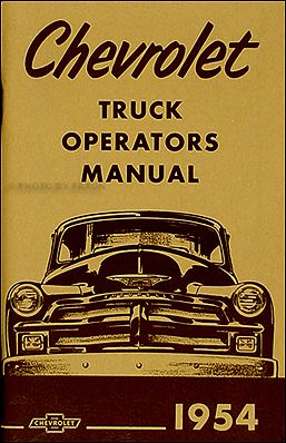 1954 & 1955 1st Series Chevrolet Truck Wiring Diagram Manual ...  Chevy Truck Wiring Diagram on
