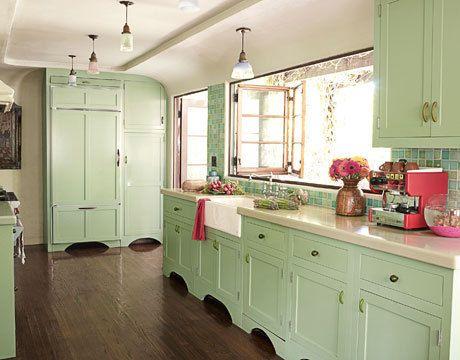 Mintgroen keuken nieuwe huis kitchen colors