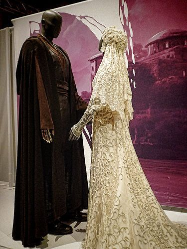 Wedding Ensemble Of Anakin Skywalker And Padme Amidala At Star Wars The Costume Exhibit By Mharrsch