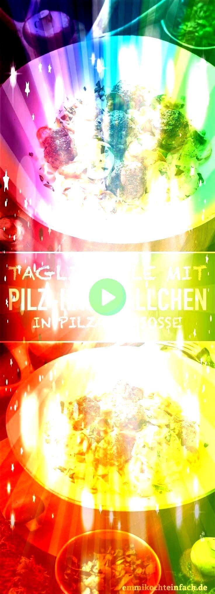 in Pilzrahmsoße  wwwemmikochteinf Tagliatelle mit PilzHackbällchen in Pilzrahmsoße  wwwemmikochteinf  This Creamy Garlic Herb Mushroom Spaghetti is total...