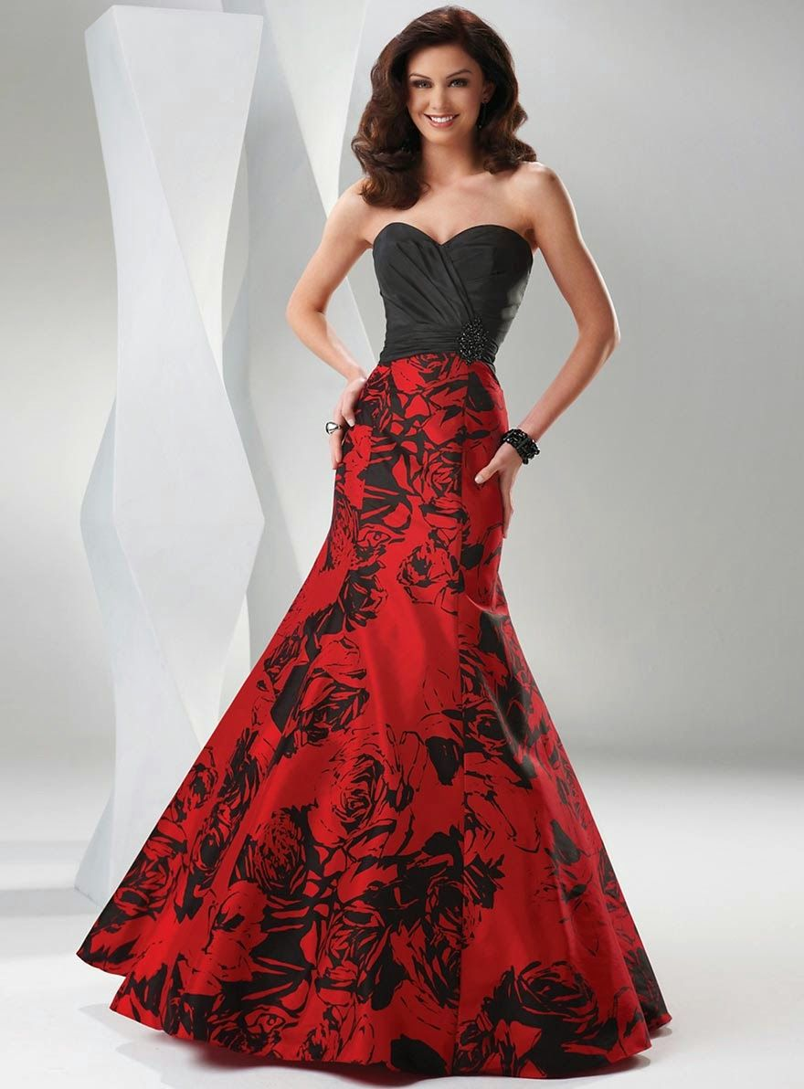 Modern-Wedding-Dresses-Color-Red-Black-Design-Concept.jpg (880 ...
