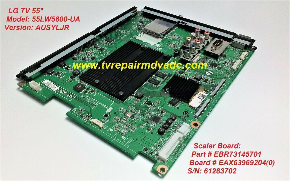 EBR73145701  SCALER BOARD LG 55LW5600-UA  NON-TESTED  CORE