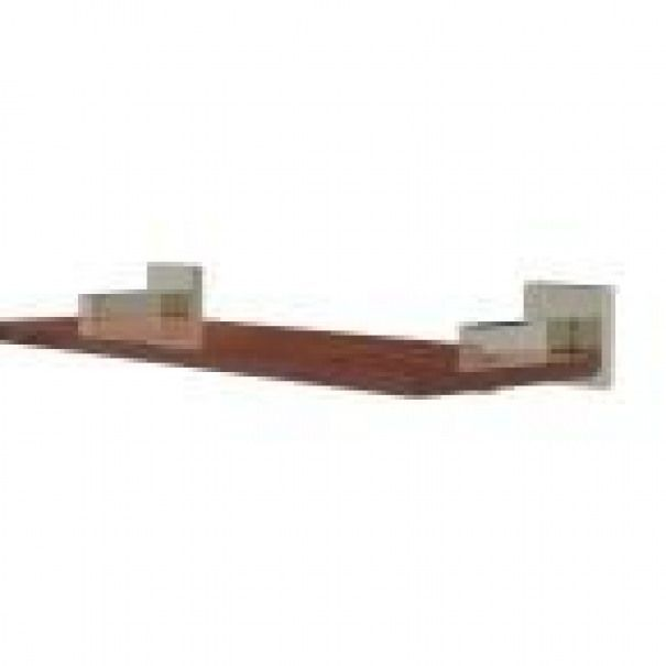 Photo of Allied Brass Montero Collection 16 in. Solid IPE Ironwood Shelf in Polished Nick…