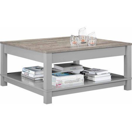 Better Homes And Gardens Langley Bay Coffee Table, Gray/Sonoma Oak   Walmart .