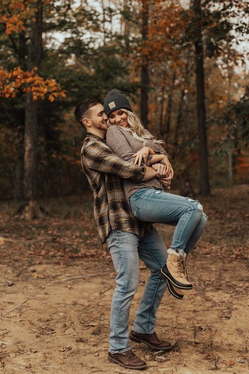 Fall Forest Engagement Session | Holly Lea Photography