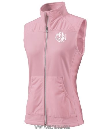 Monogram Preppy Pink VestPerfectly Breezy Monogrammed Blush E29beDHIWY