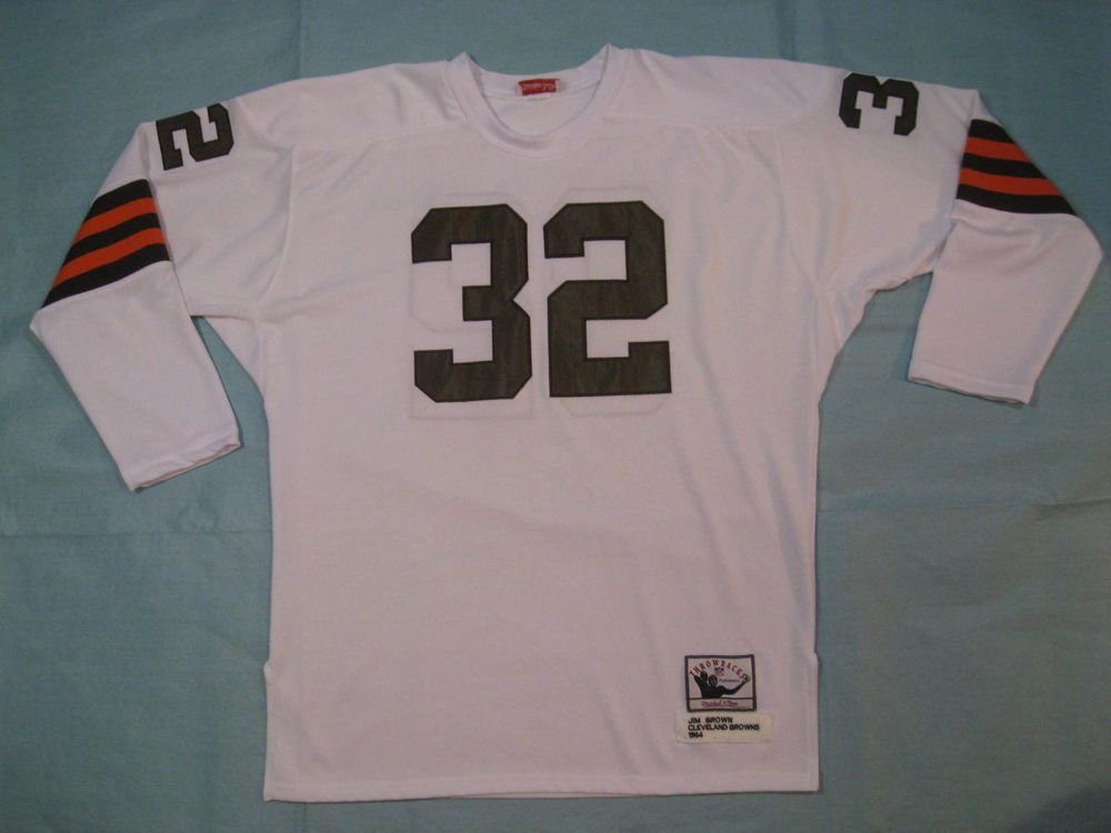 33947e42 Jim Brown 1964 Throwback Cleveland Browns #32 Jersey Mitchell and Ness Size  52 #MitchellNess #ClevelandBrowns