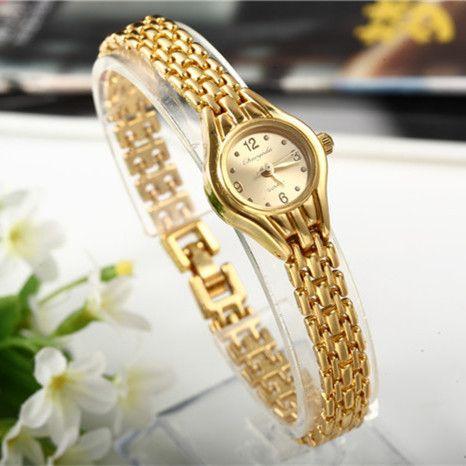 Women--Bracelet-Watch--Mujer-Golden-Relojes-