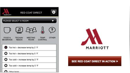 Marriot Meeting Services App: Planners can manage their meeting ...