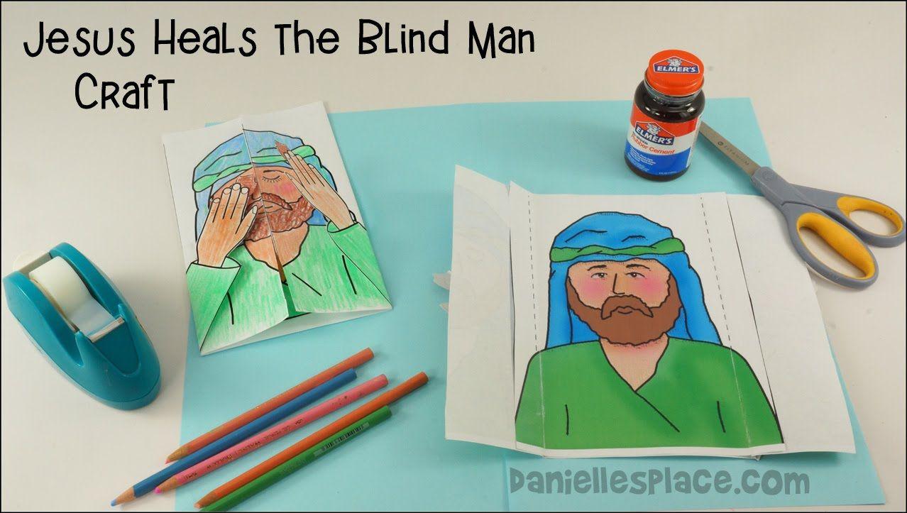 Jesus sana un hombre ciego Craft | Manualidades niños | Pinterest ...