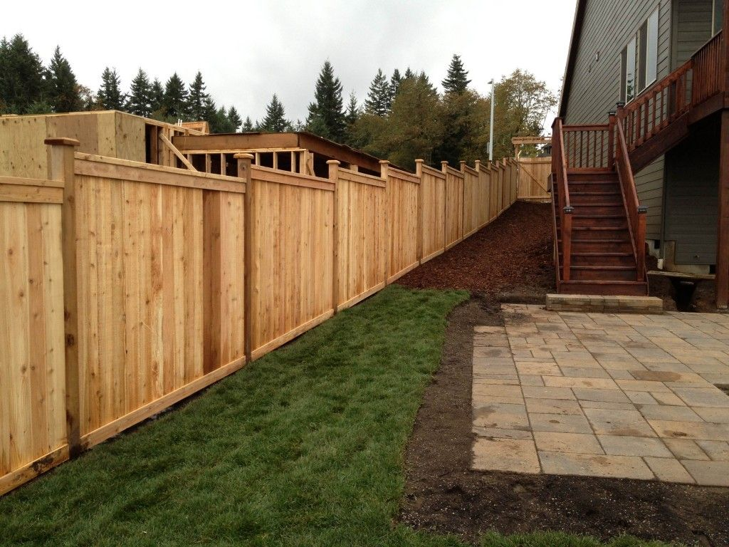 Image result for block and timber fence