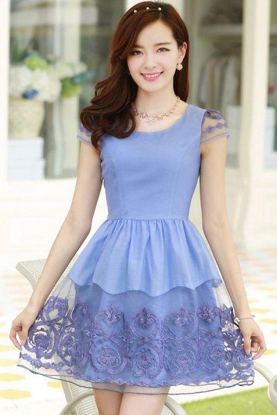 Peplum Floral Dress