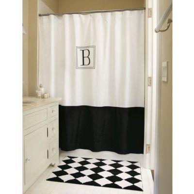 Monograma Cute Way To Jazz Up An Inexpensive Shower Curtain