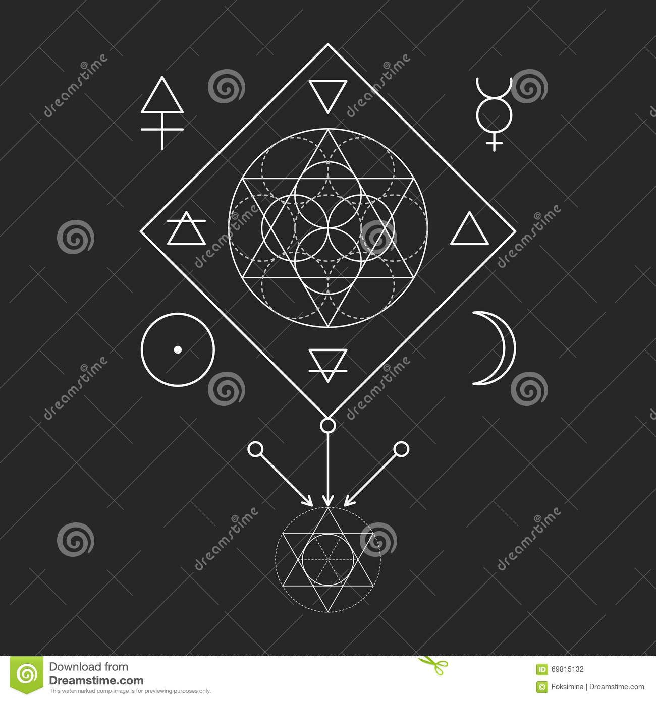 Symbol of alchemy and sacred geometry three primes spirit soul symbol of alchemy and sacred geometry three primes spirit soul buycottarizona Choice Image