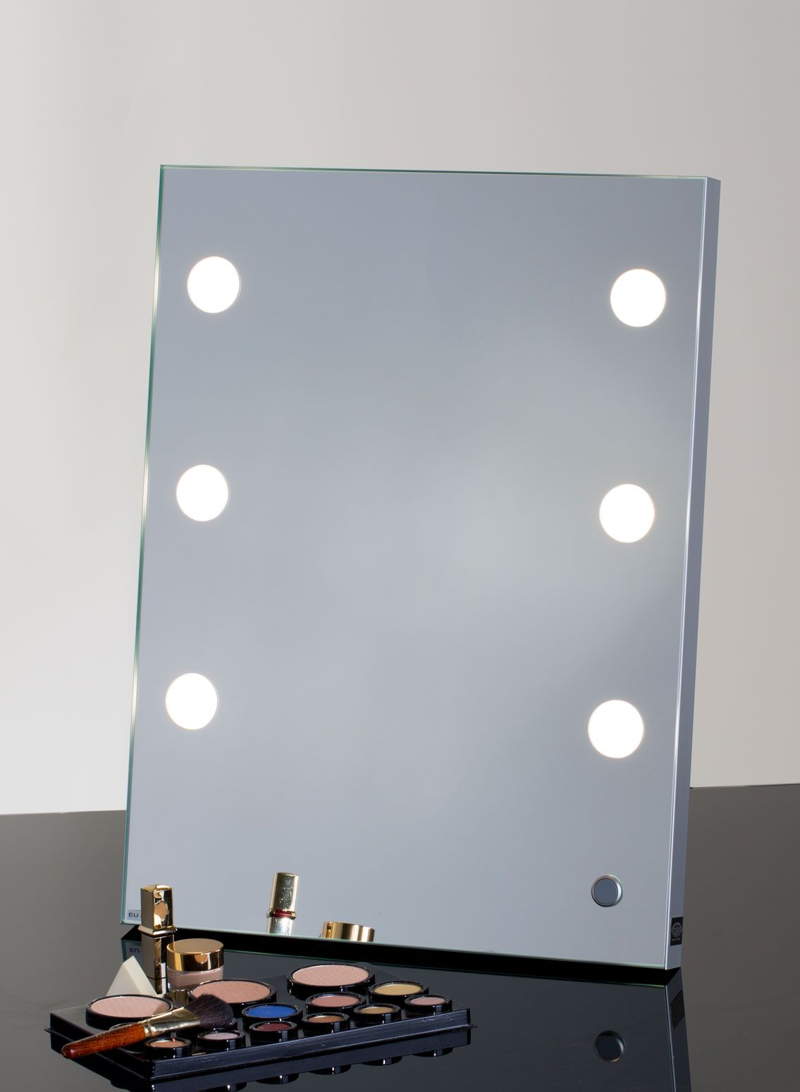 Foldable lighted vanity mirror for makeup | Vanities and Lights