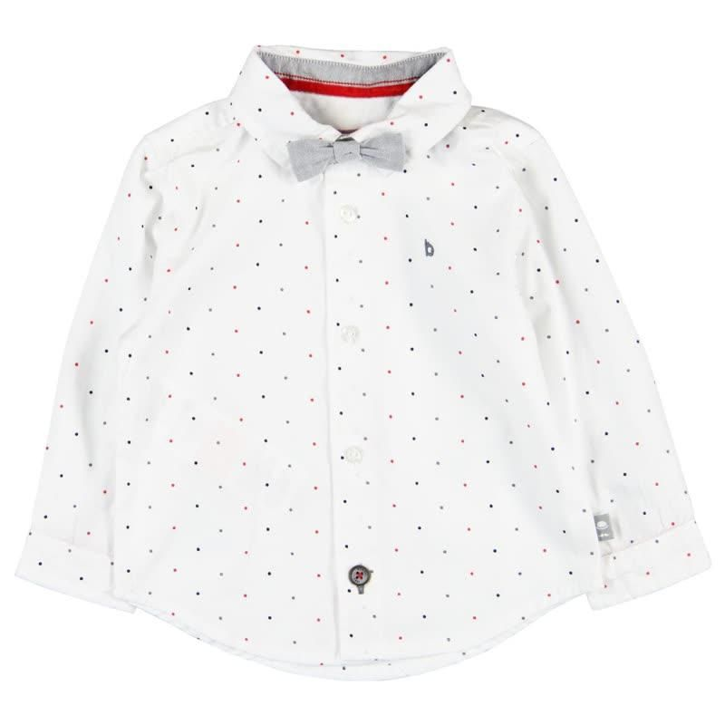 00c6362ecc3e79 Boboli Dot Shirt with Bowtie White, long sleeve button down with black and red  dots and grey bowtie Children's, Toddler boys, Tops, Shirts, Boboli