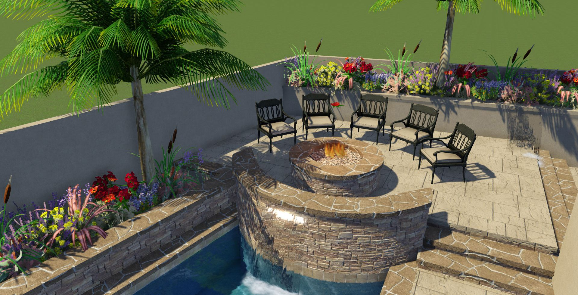 clear flo pools inc backyard makeover man cave grill