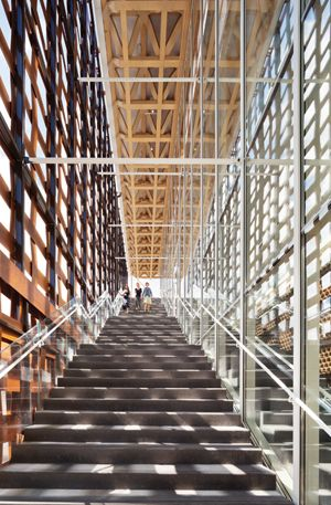 Aspen Art Museum, Grand Stair. ©MICHAEL MORAN/OTTO/COURTESY ASPEN ART MUSEUM