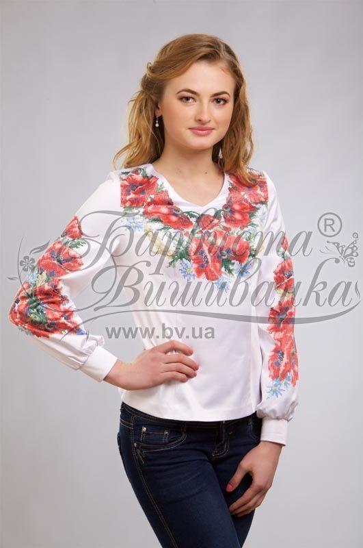 Атласная белая женская вышиванка БЖ-054Б  5a3c52e27fb13