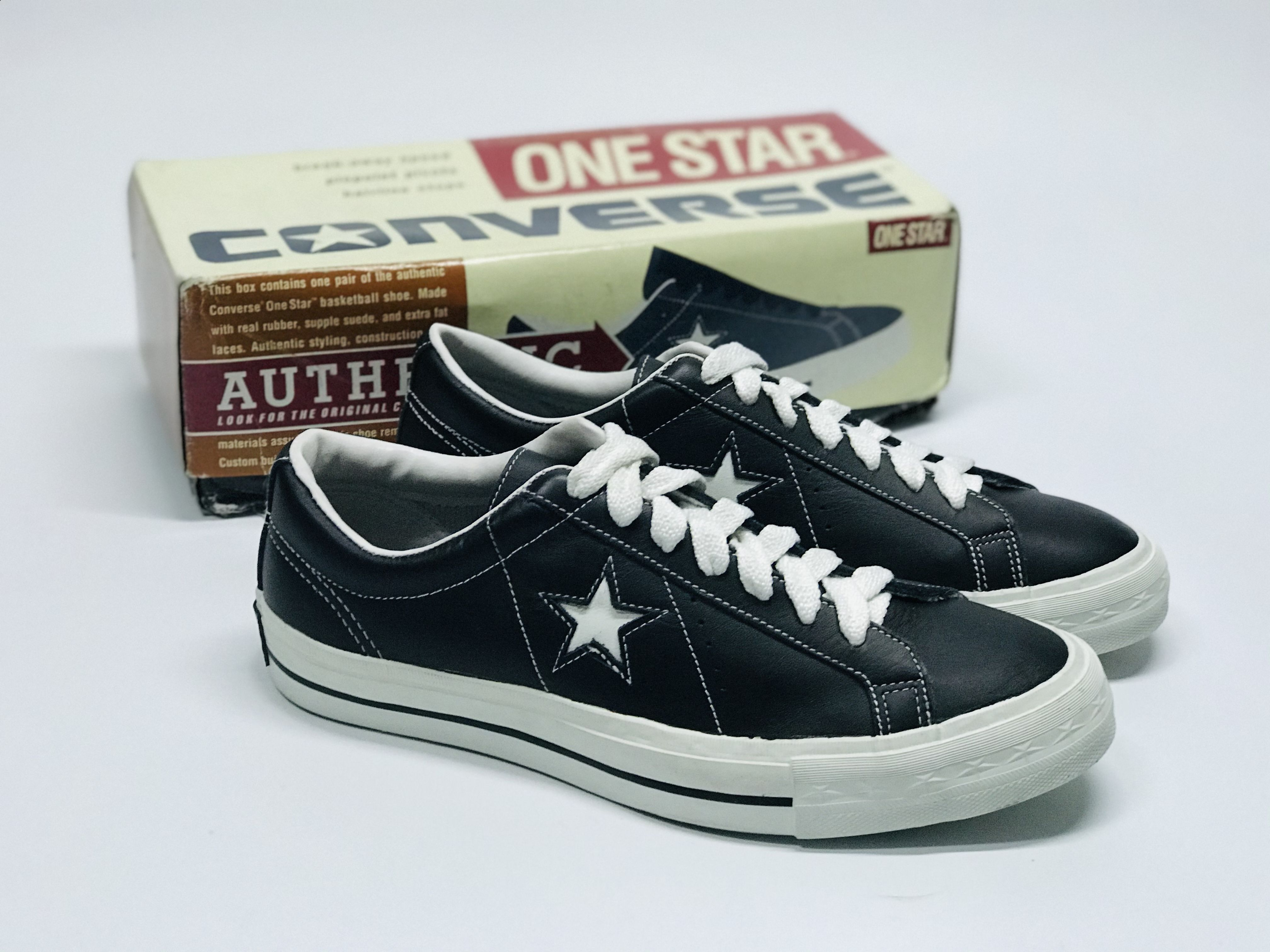 Calvo primero proteger  CONVERSE ONE STAR 1990s Leather made in China (New With Box) in 2020    Converse, Converse one star, Leather