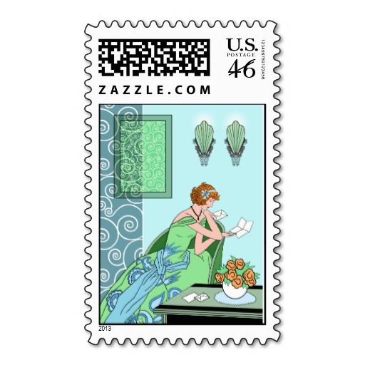 Clarices Letter - Art Deco Fashion Design Stamp