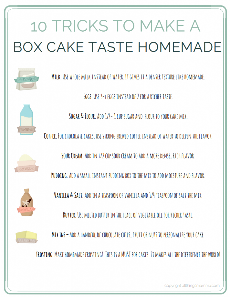 The Next Time You Need To Make A Delicious Cake Use These 10