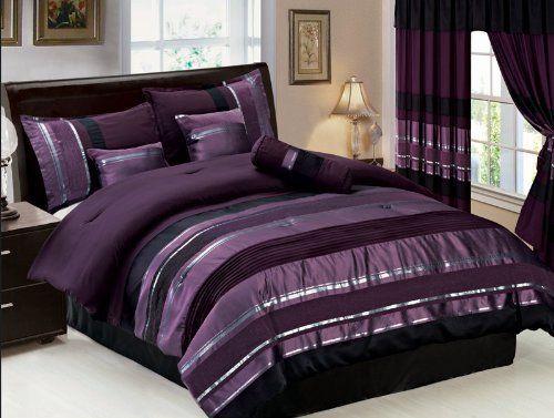 1000 images about Bedroom Ideas on Pinterest Bedding sets Purple comforter  and Sheet sets  1000. Black Silver Purple Bedroom
