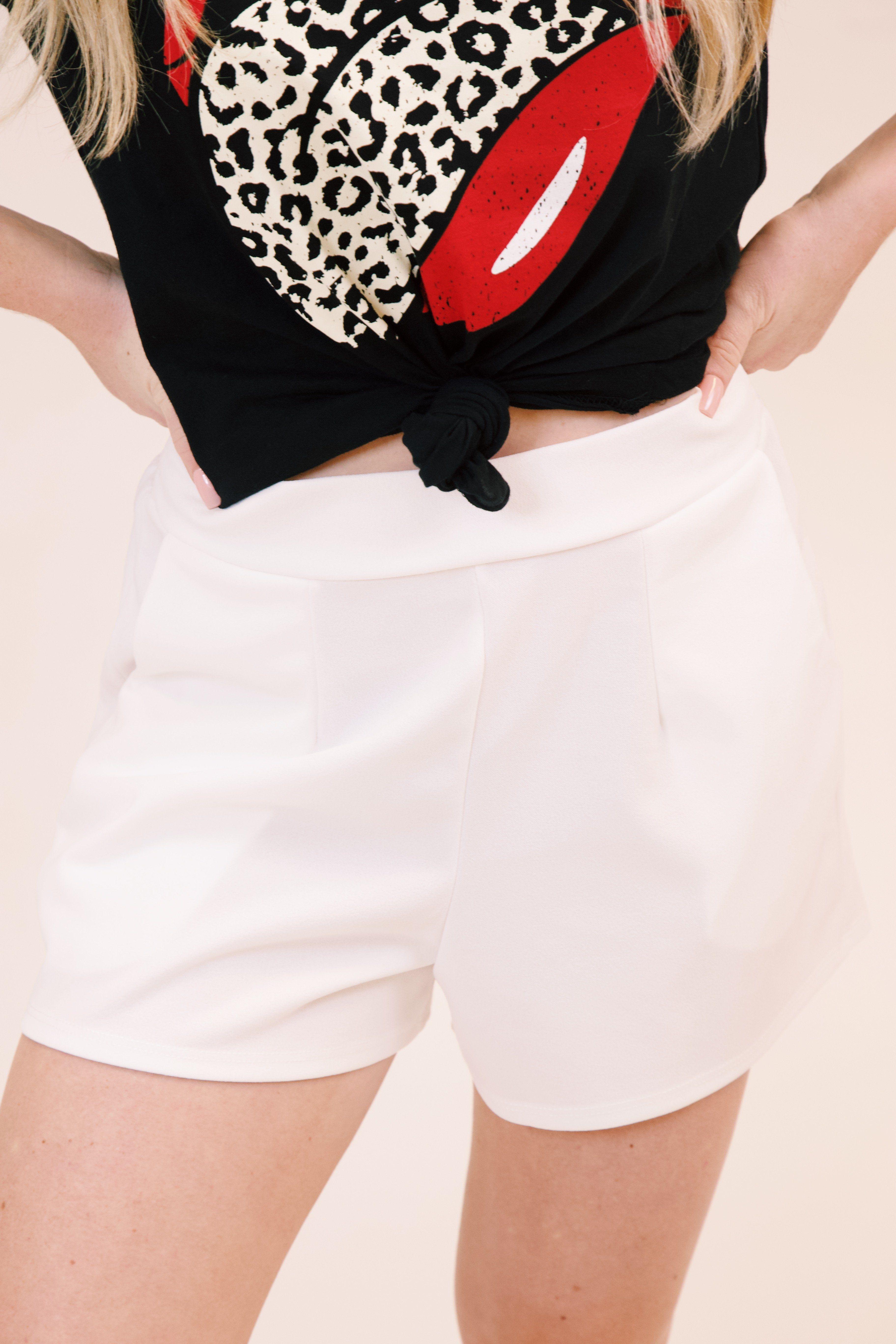 Ophelia Chiffon Shorts, Off White