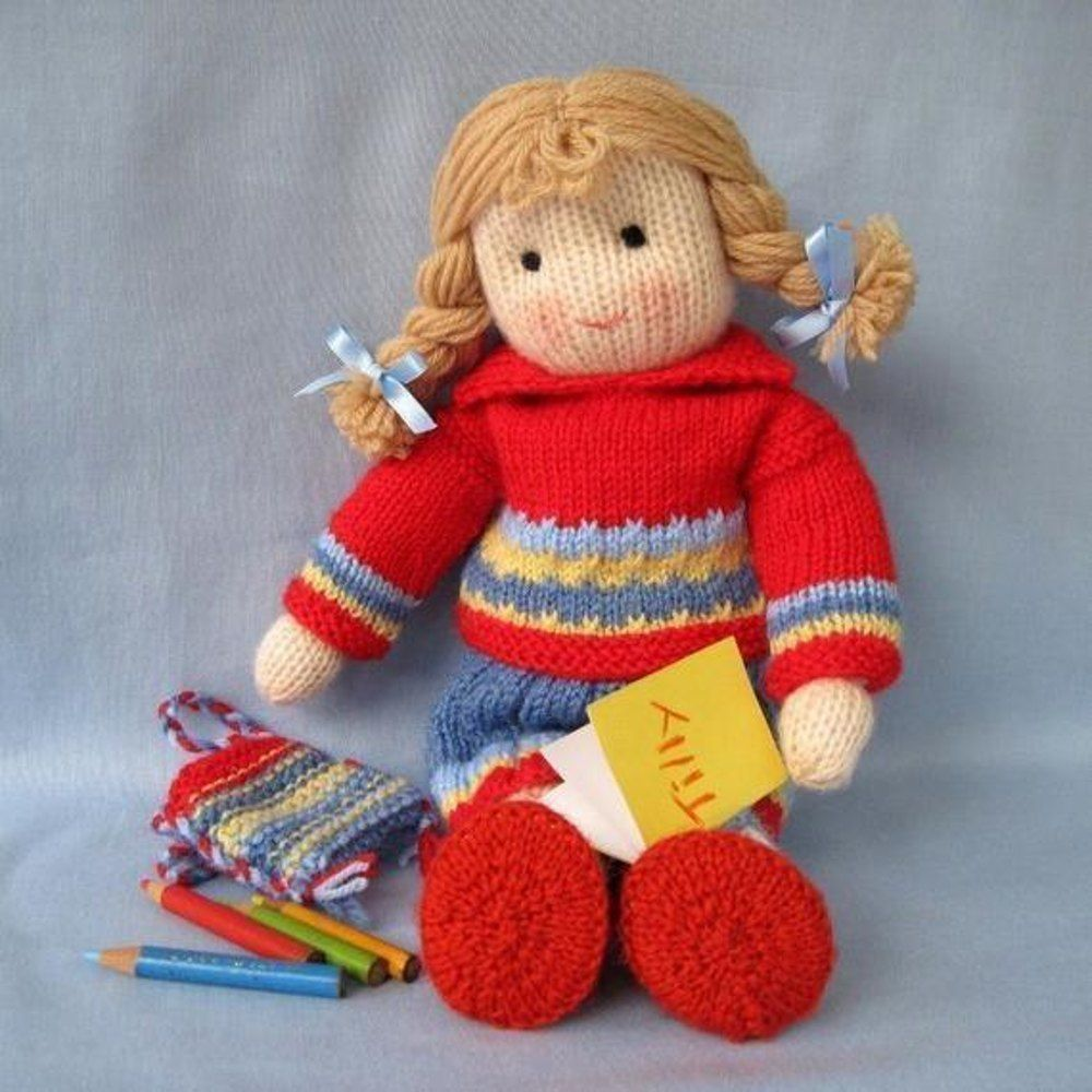 5739abe303b01c Tilly - Knitted Doll Knitting pattern by Dollytime