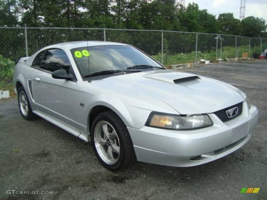 images of 2000 mustang in silver with black trim | 2000 ford