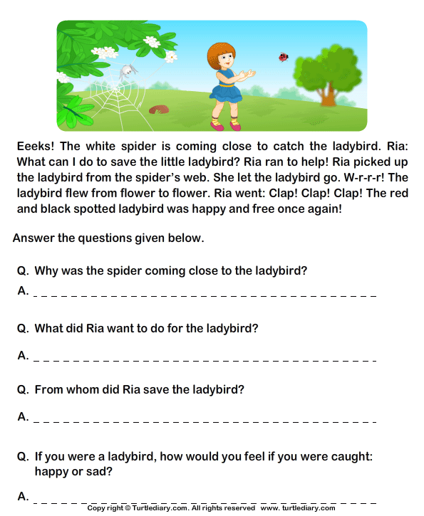 grade 1 english comprehension worksheets - Google Search | Grade 1 ...