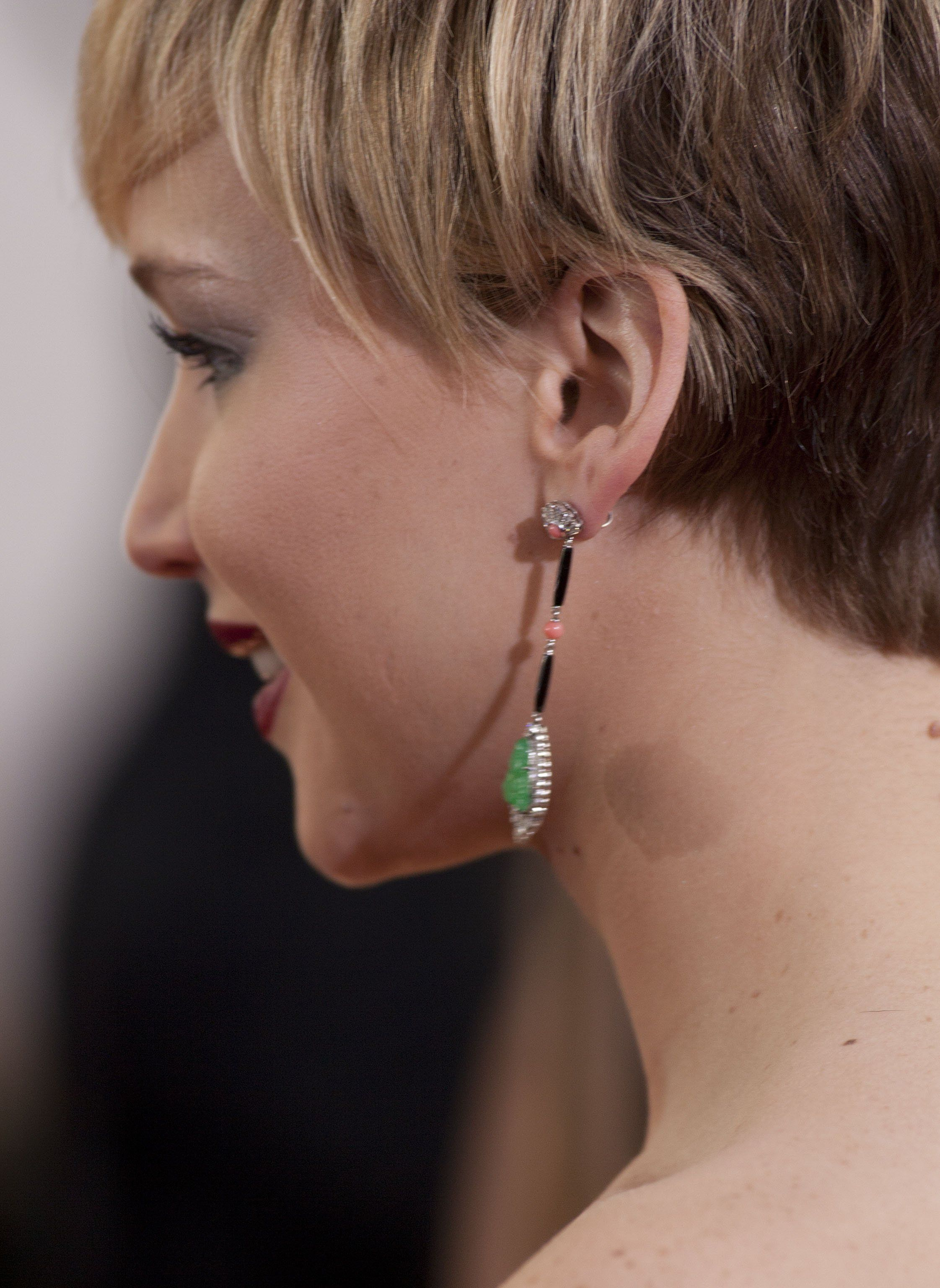 Jennifer Lawrence wearing Neil Lane jewelry – Golden Globe Awards #2014